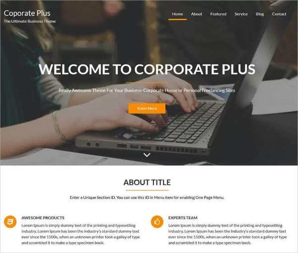Free Attractive IT WordPress Theme