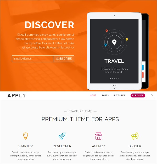 App Agency WordPress Theme $44