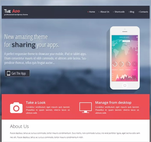 Free App Showcase WordPress Themes