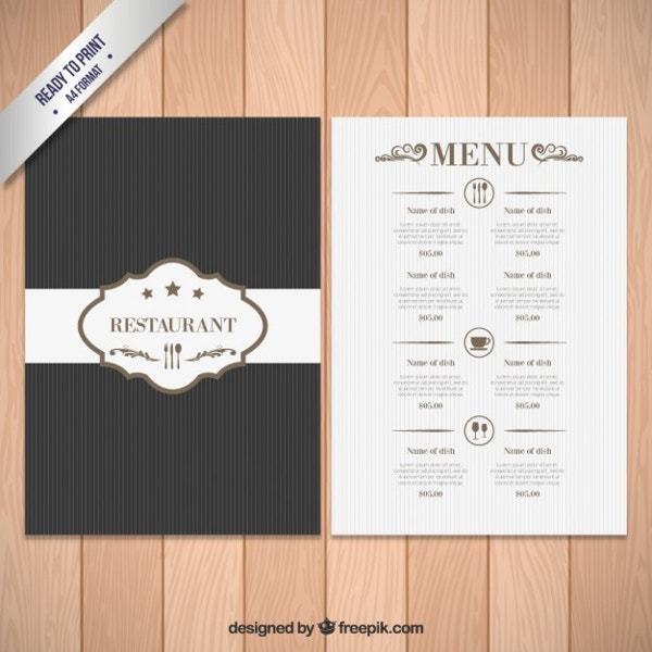 Free Download Elegant Menu Template