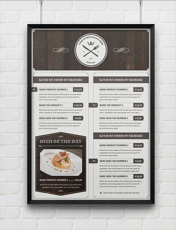 Multipurpose Menu Template