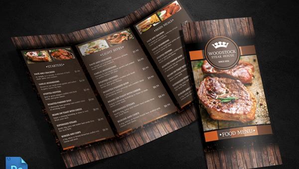 elegant menu template