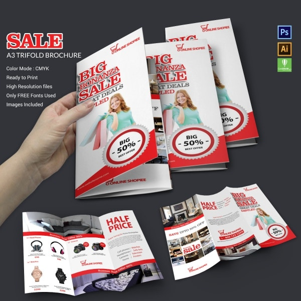 Sale Tri-fold Brochure Template