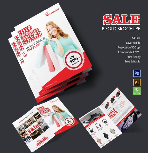 sale bi fold brochure