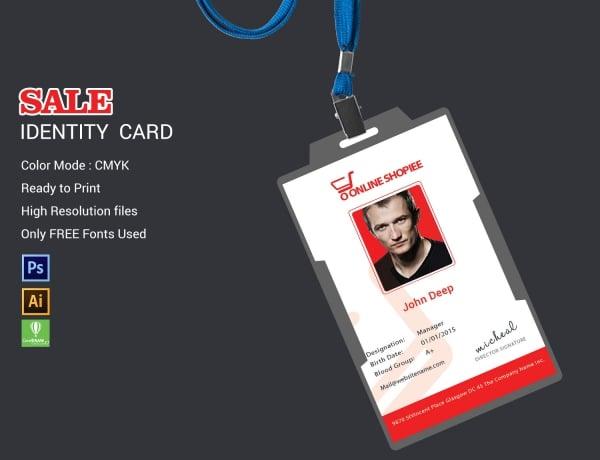 sale identity card