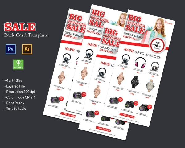 Sale Rack Card Template