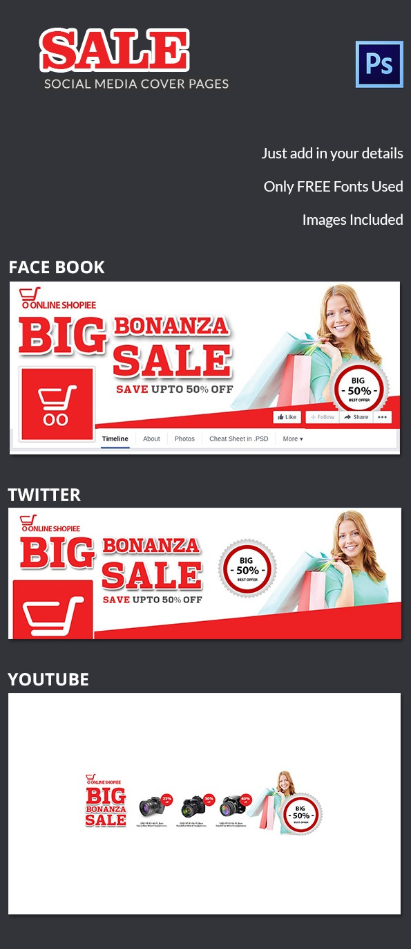 Sale Social Media Cover Page
