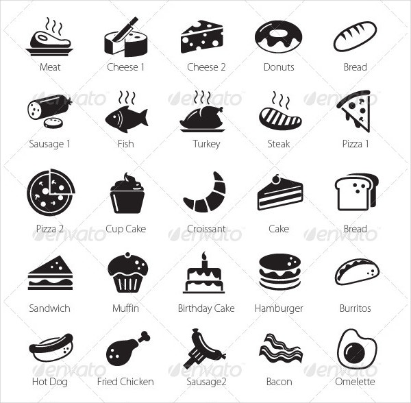 food restaurant icons