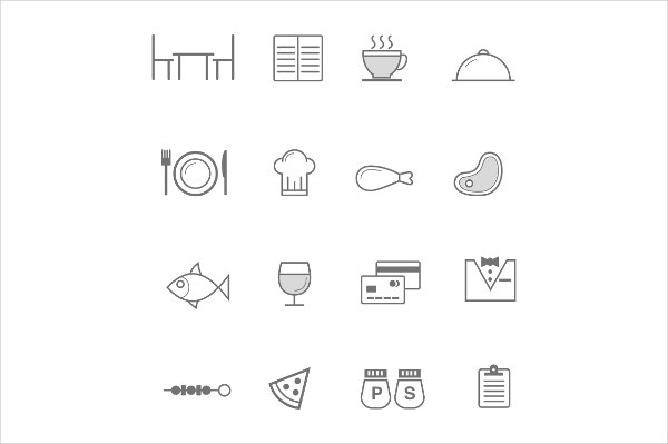 restaurant table icons