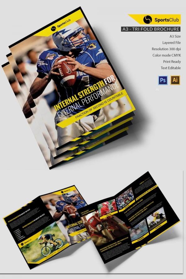 Sports Club Bi-fold Brochure