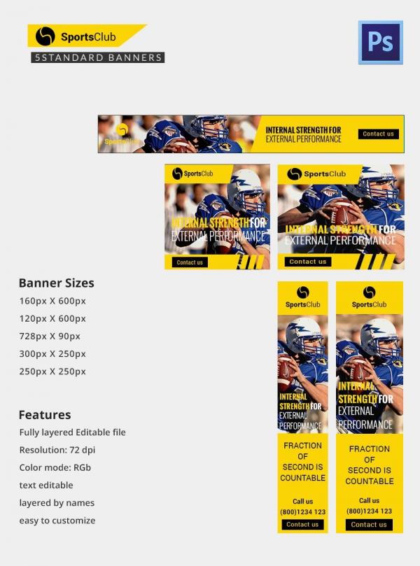 Sports Club Ad Banner