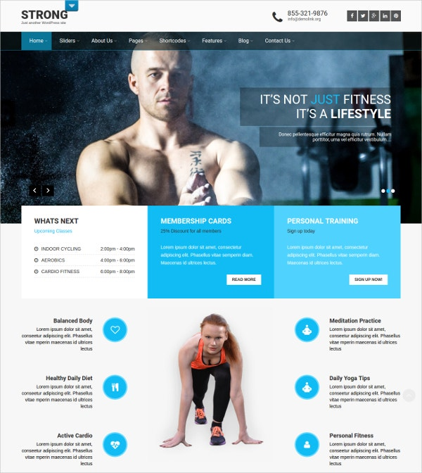 21+ Personal Trainer WordPress Themes & Templates | Free & Premium ...