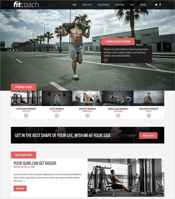 Personal Fitness Trainer WordPress Theme