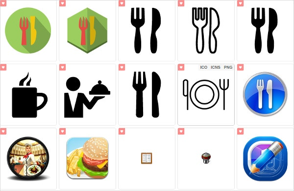300 colorful restaurant icon