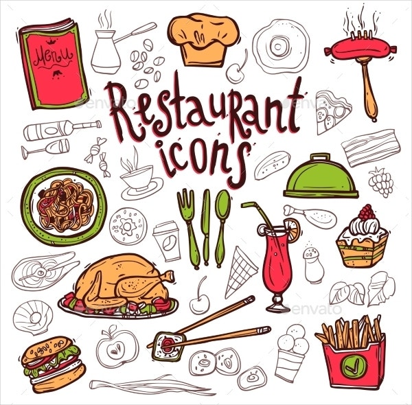 decorative restaurant icon
