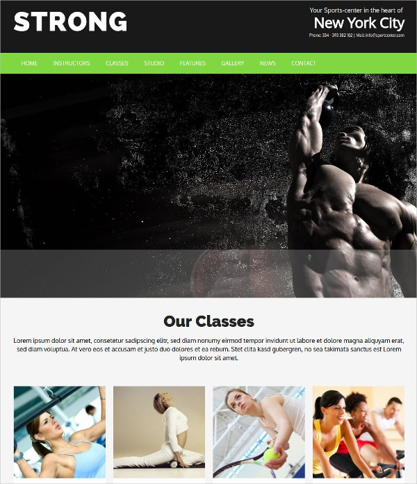 Personal Instructor WordPress Theme $69