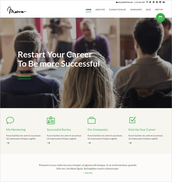 Personal Development Coach WP Theme $49