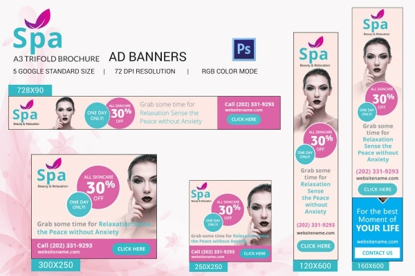 Spa Ad Banners