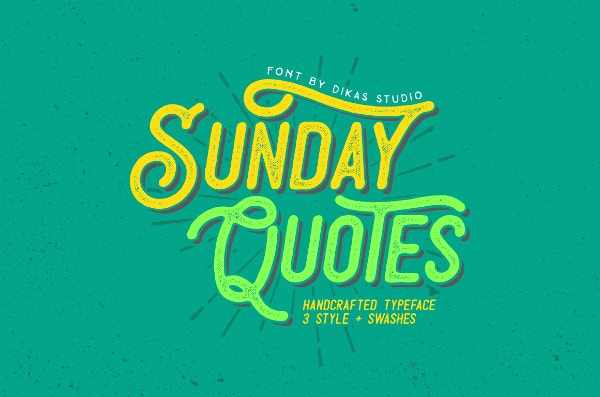 3 grunge font styles for quotes