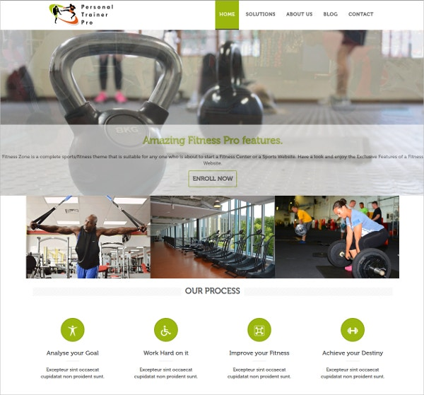 Personal Trainer Fitness, Gym WordPress Theme $49