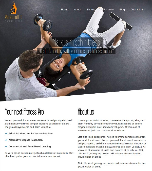 Personal Fit WordPress Personal Trainer Theme