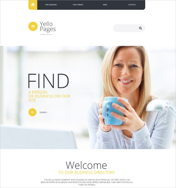 Premium Business Directory Website Template $69