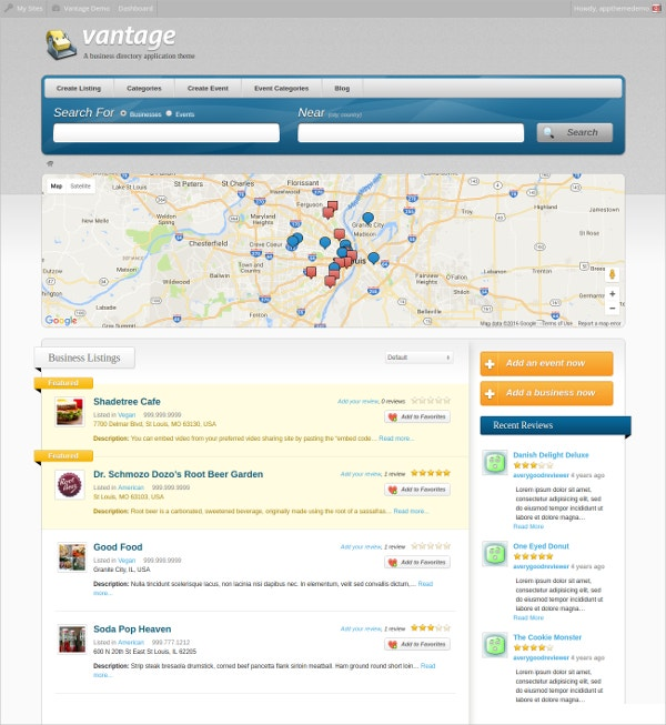 fully responsive business directory wp website theme