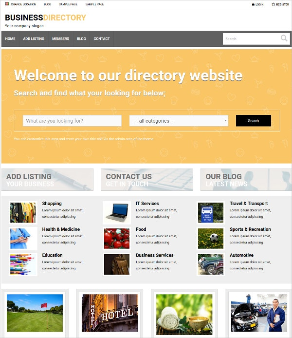 Creative Business Directory WP Website Theme