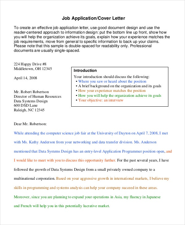 Job Application Motivation Letter Template