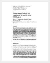 Healthcare Strategic Planning Template PDF Download