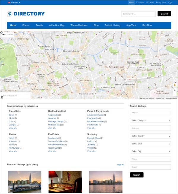 Popular Business Directory Website Theme