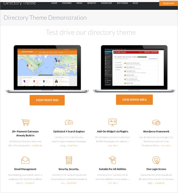 Personal Business Directory Website Theme
