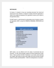 Project Management SWOT Analysis PDF Format