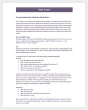 SWOT Analysis in Marketing PDF Format