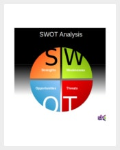 SWOT Analysis Pie Chart Template