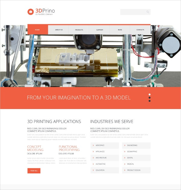 Printing Shop WordPress Theme $75