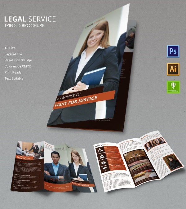legal services a3 trifold brochure