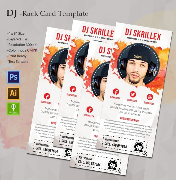 DJ Rack Card Template