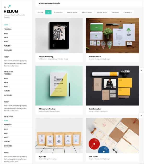 Modern Print Portfolio & Blog WordPress Theme $54