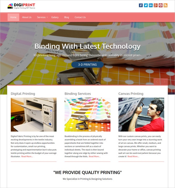 For Card Printings, Book Bindings WordPress Theme $79