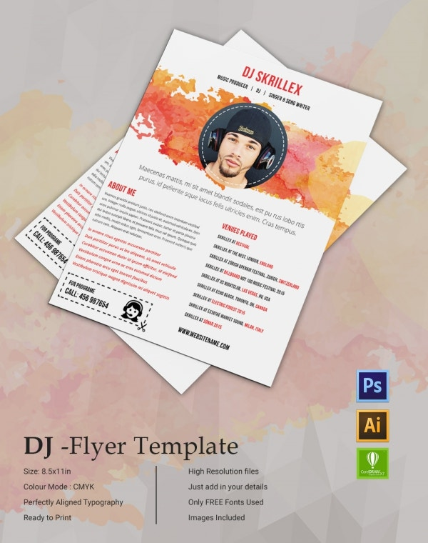 DJ Flyer Design Template
