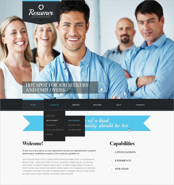 Premium Job Board Portal Joomla Template $67