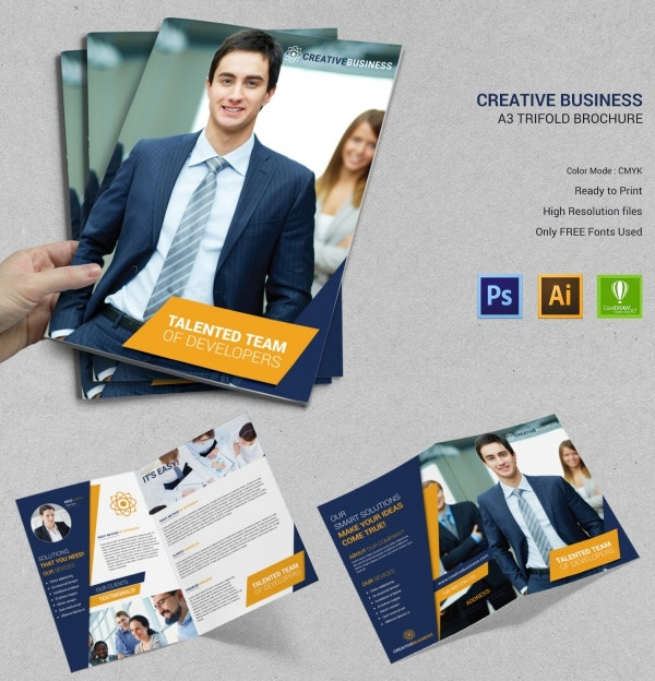 Creative Business Bi-Fold Brochure