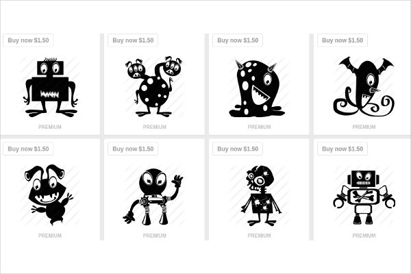 Set of Cartoon Icons