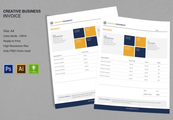 Creative Business Invoice