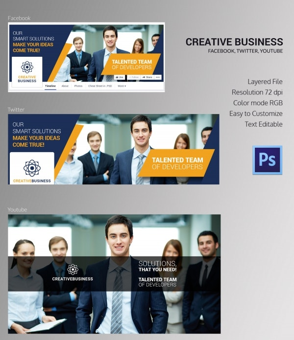 Creative Business Social Cover Pages