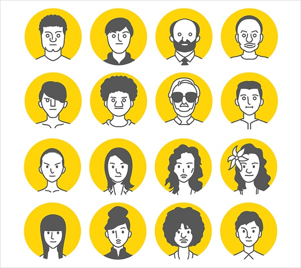 people avatar face icons