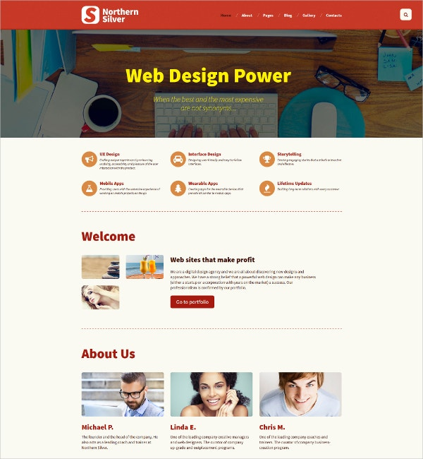 Creative Designer Website Template $75