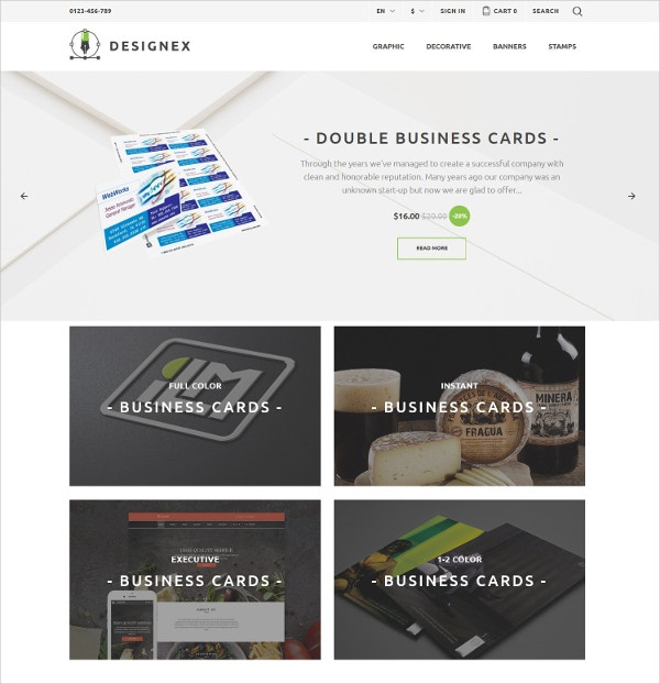 Corporate Design PrestaShop Website Theme $139
