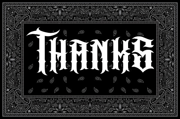 bandidos tattoo font